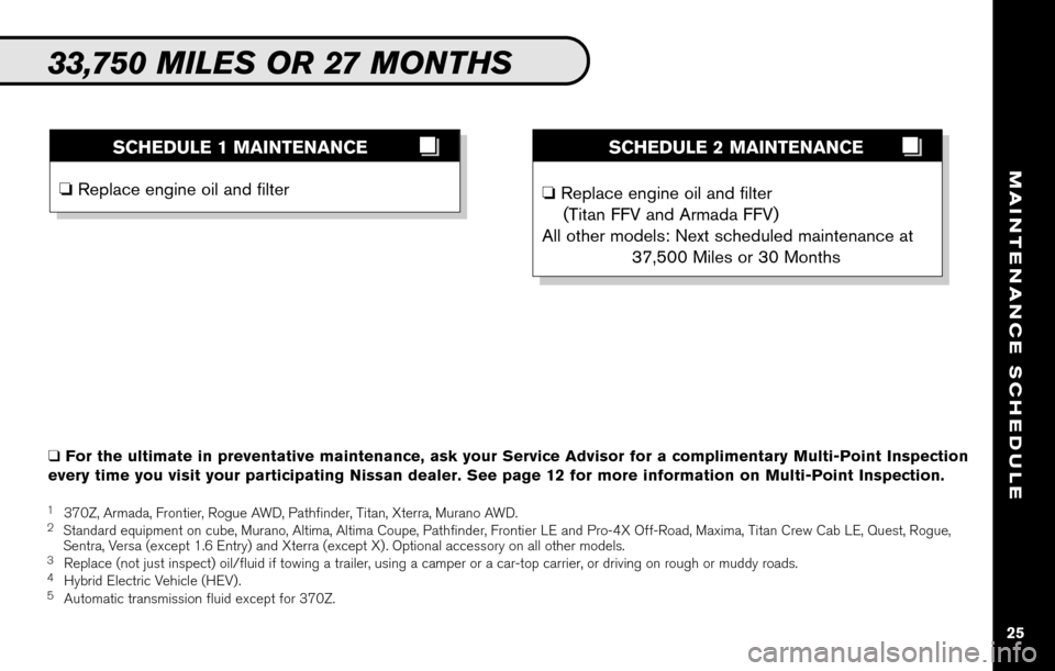 NISSAN SENTRA 2010 B17 / 7.G Service And Maintenance Guide, Page 27