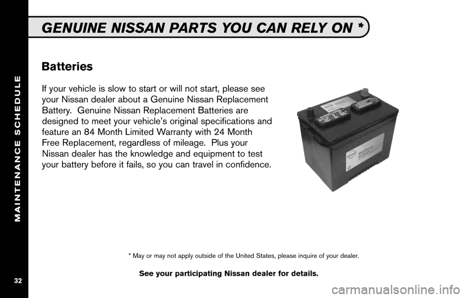 NISSAN CUBE 2010 3.G Service And Maintenance Guide, Page 34