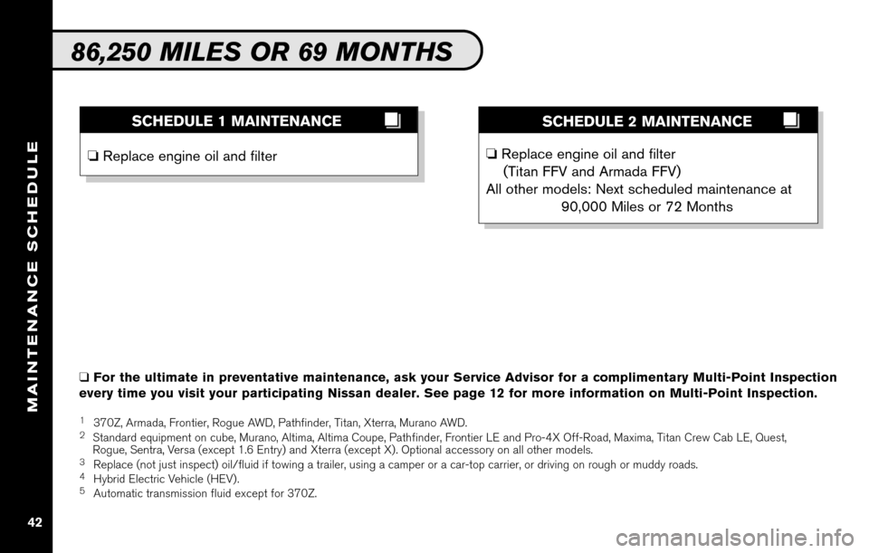 NISSAN ALTIMA COUPE 2010 D32 / 4.G Service And Maintenance Guide, Page 44