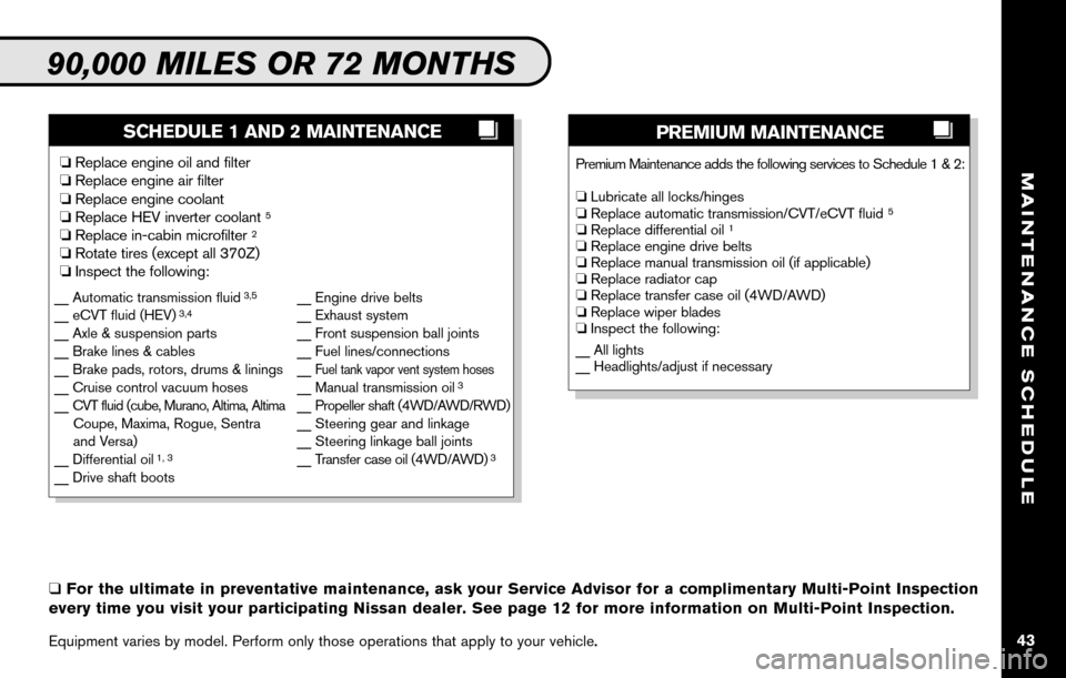 NISSAN ALTIMA COUPE 2010 D32 / 4.G Service And Maintenance Guide, Page 45