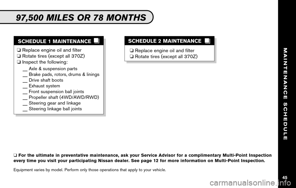 NISSAN ALTIMA COUPE 2010 D32 / 4.G Service And Maintenance Guide, Page 47