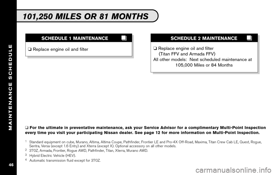 NISSAN ALTIMA COUPE 2010 D32 / 4.G Service And Maintenance Guide, Page 48