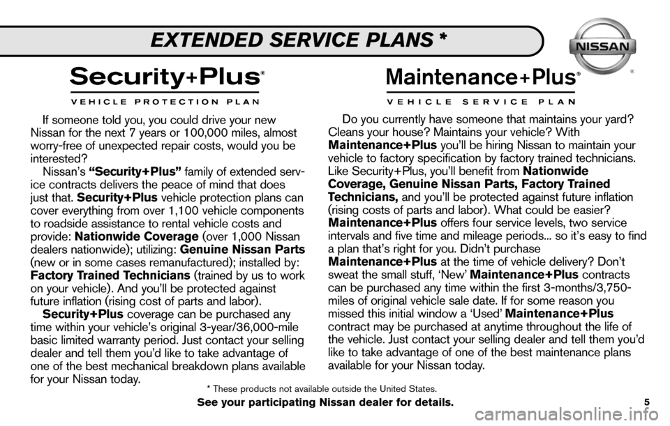 NISSAN SENTRA 2010 B17 / 7.G Service And Maintenance Guide, Page 7