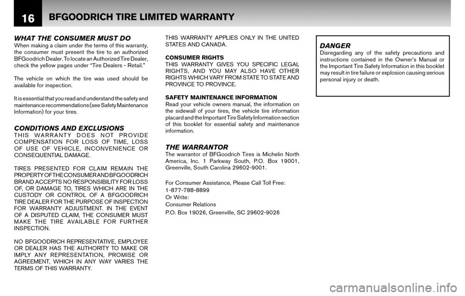 NISSAN CUBE 2010 3.G Warranty Booklet, Page 19
