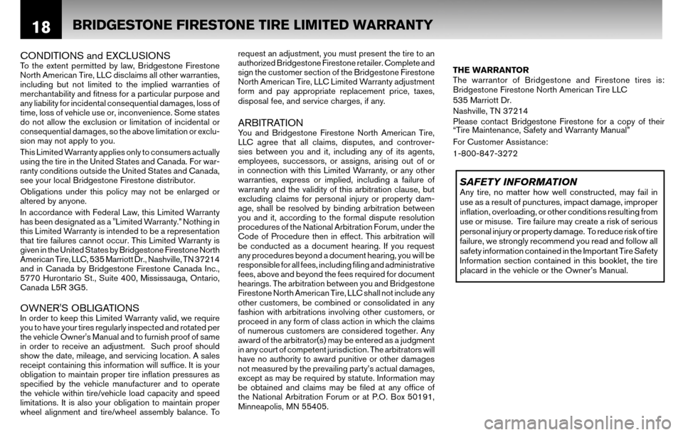 NISSAN ALTIMA COUPE 2010 D32 / 4.G Warranty Booklet, Page 21