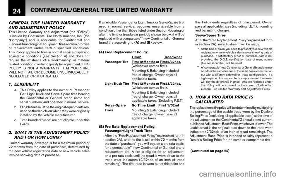NISSAN ALTIMA COUPE 2010 D32 / 4.G Warranty Booklet, Page 27