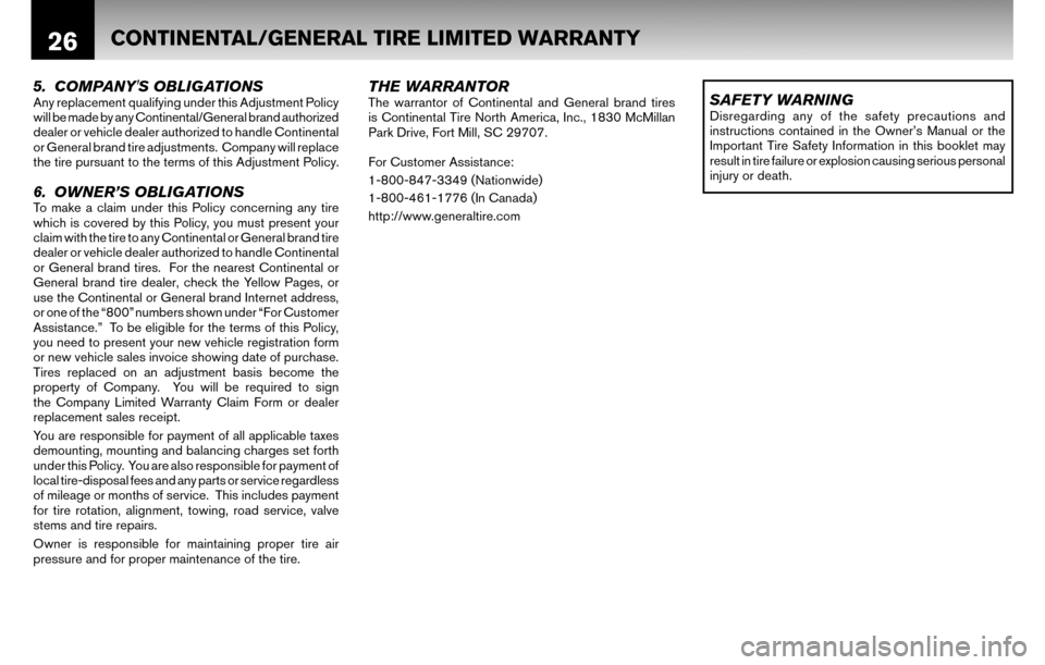 NISSAN ALTIMA COUPE 2010 D32 / 4.G Warranty Booklet, Page 29