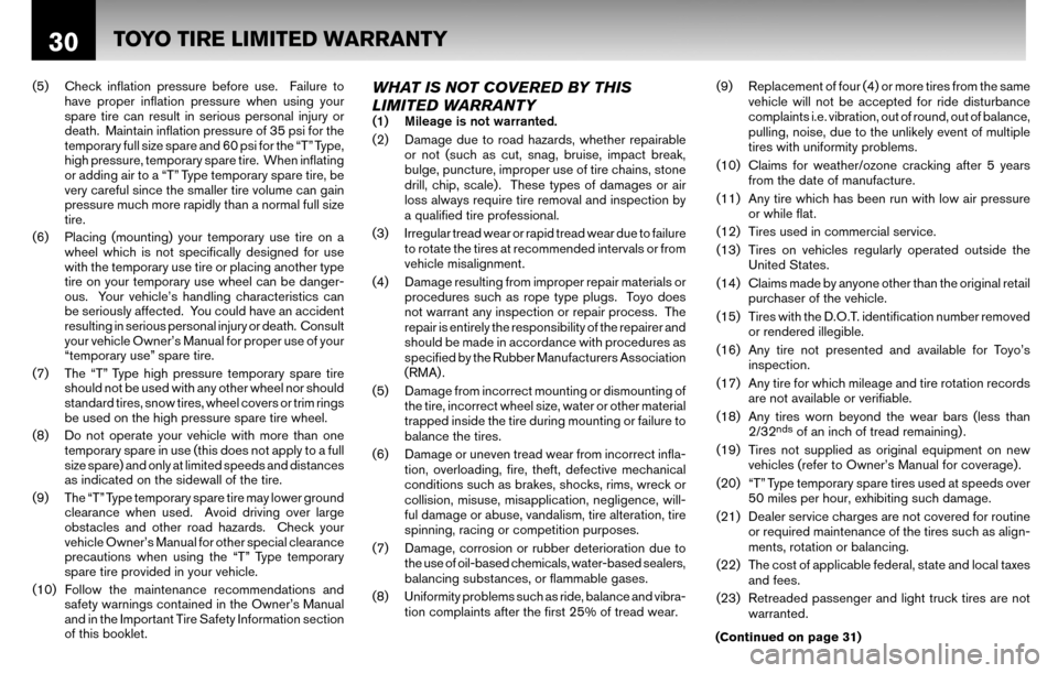 NISSAN ALTIMA COUPE 2010 D32 / 4.G Warranty Booklet