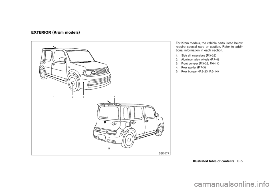NISSAN CUBE 2010 3.G Owners Manual, Page 11
