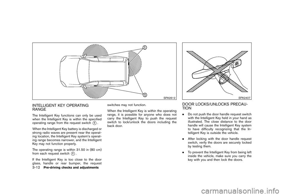 NISSAN CUBE 2010 3.G Owners Manual, Page 126