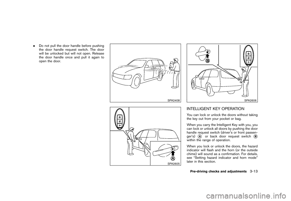 NISSAN CUBE 2010 3.G Owners Manual, Page 127