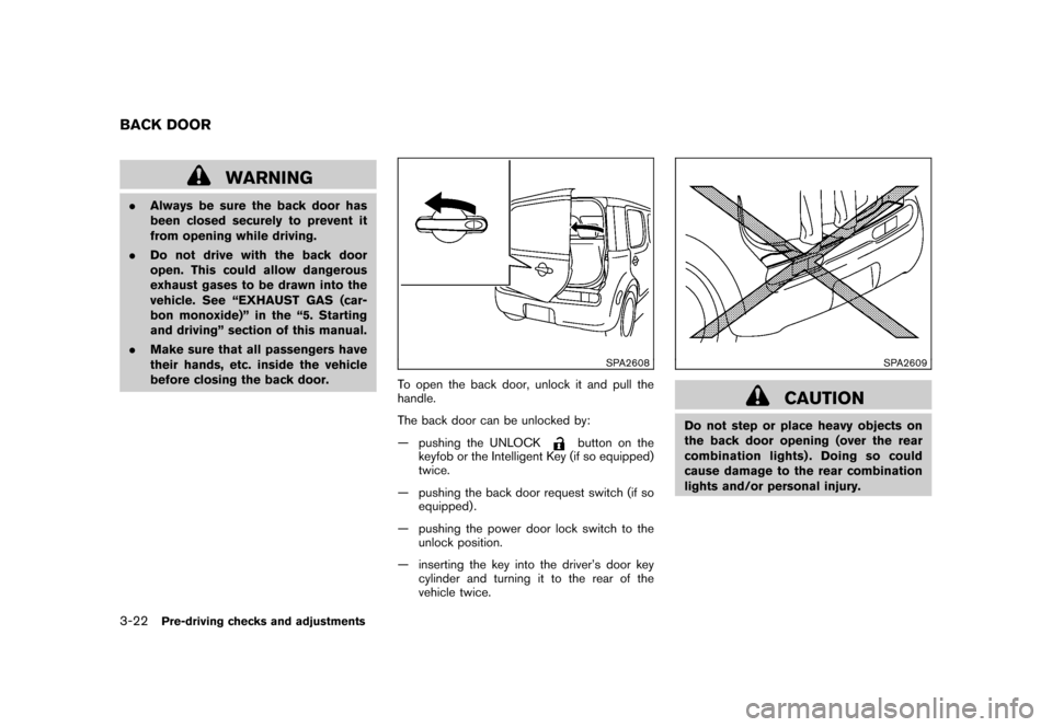 NISSAN CUBE 2010 3.G Owners Manual, Page 136
