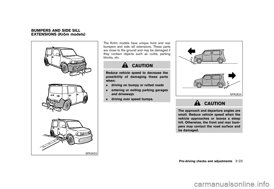 NISSAN CUBE 2010 3.G Owners Manual, Page 137