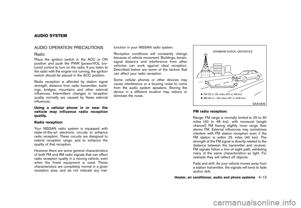 NISSAN CUBE 2010 3.G Owners Manual, Page 155