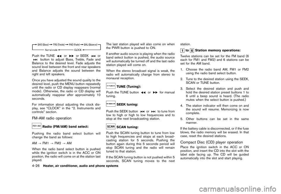 NISSAN CUBE 2010 3.G Owners Manual, Page 168