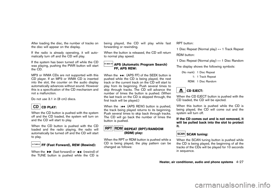 NISSAN CUBE 2010 3.G Owners Manual, Page 169
