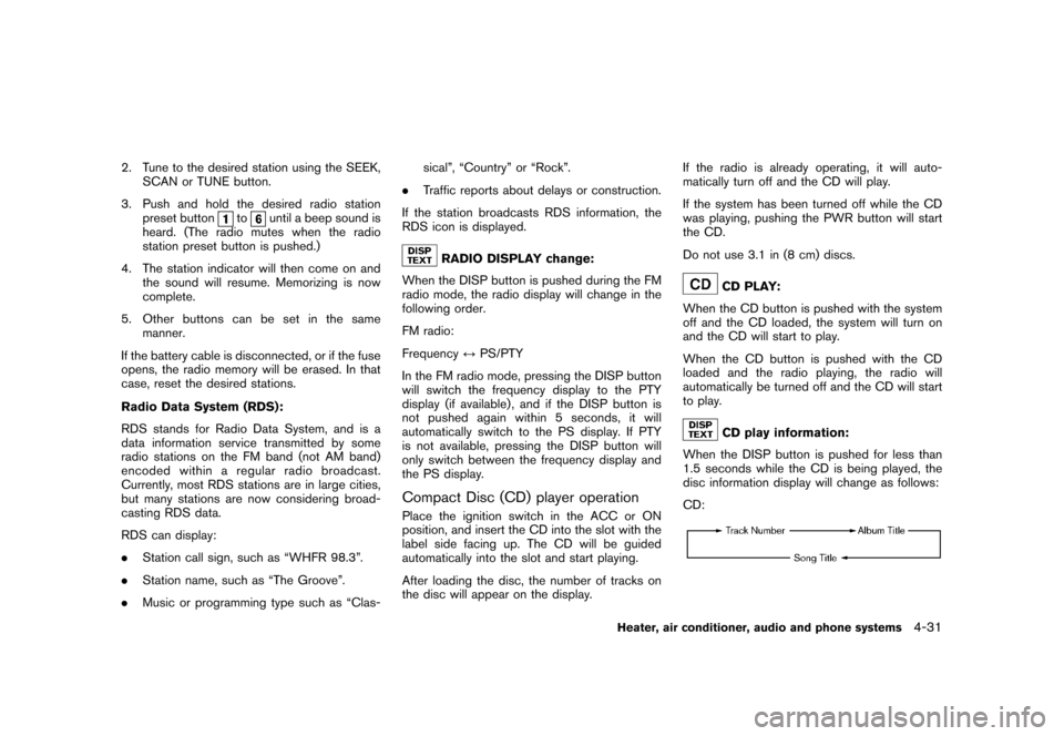 NISSAN CUBE 2010 3.G Owners Manual, Page 173