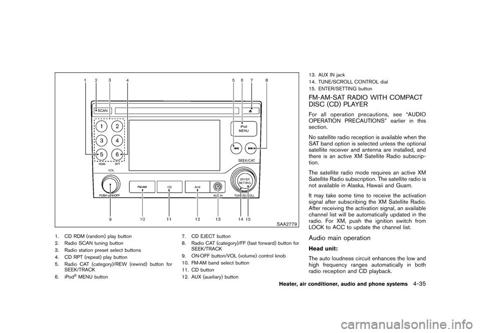 NISSAN CUBE 2010 3.G Owners Manual, Page 177