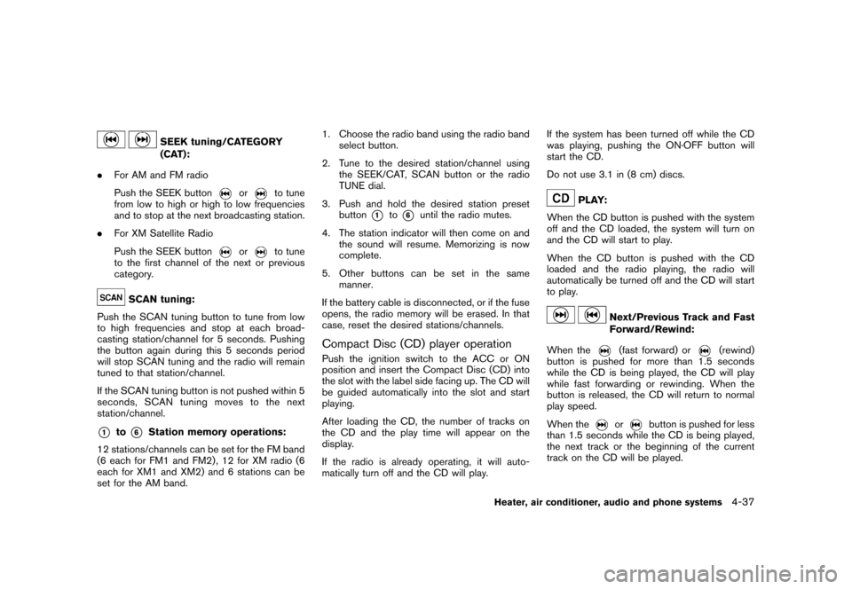 NISSAN CUBE 2010 3.G Owners Manual, Page 179