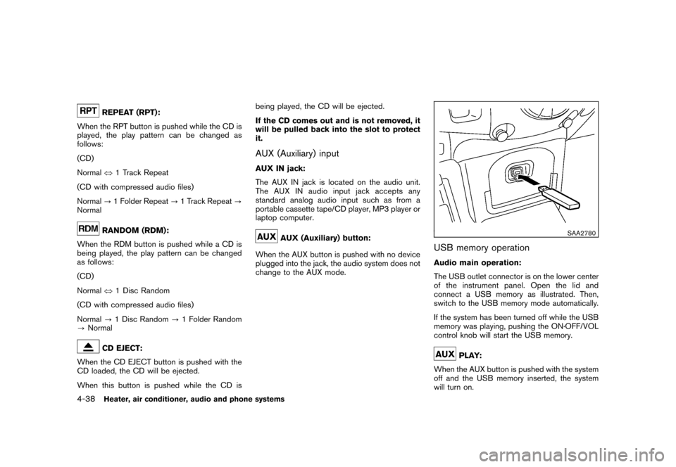NISSAN CUBE 2010 3.G Owners Manual, Page 180