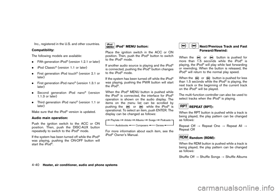 NISSAN CUBE 2010 3.G Owners Manual, Page 182
