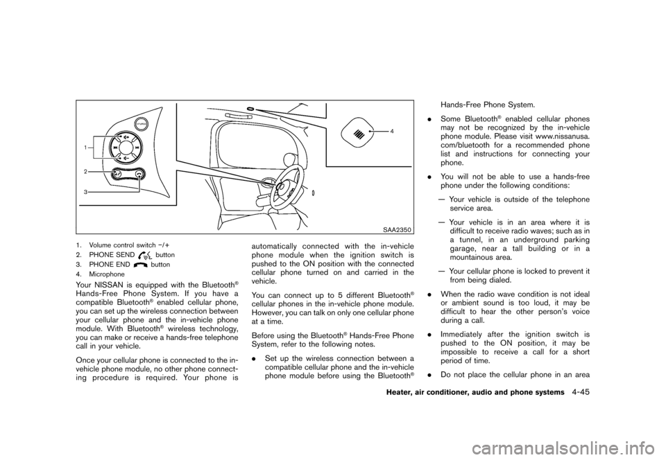 NISSAN CUBE 2010 3.G Owners Manual, Page 187