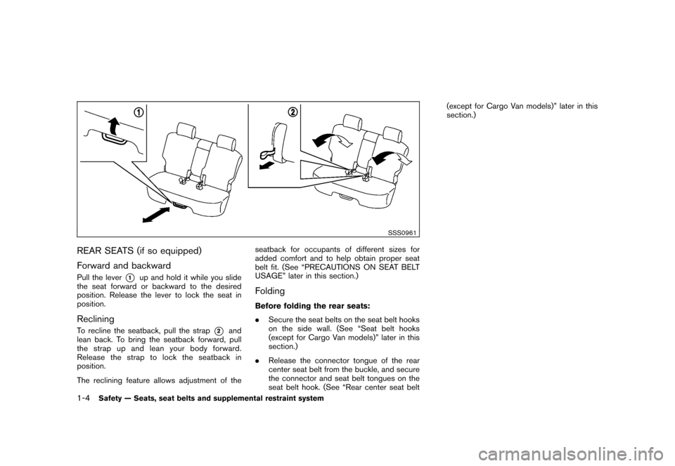 NISSAN CUBE 2010 3.G Owners Manual, Page 20