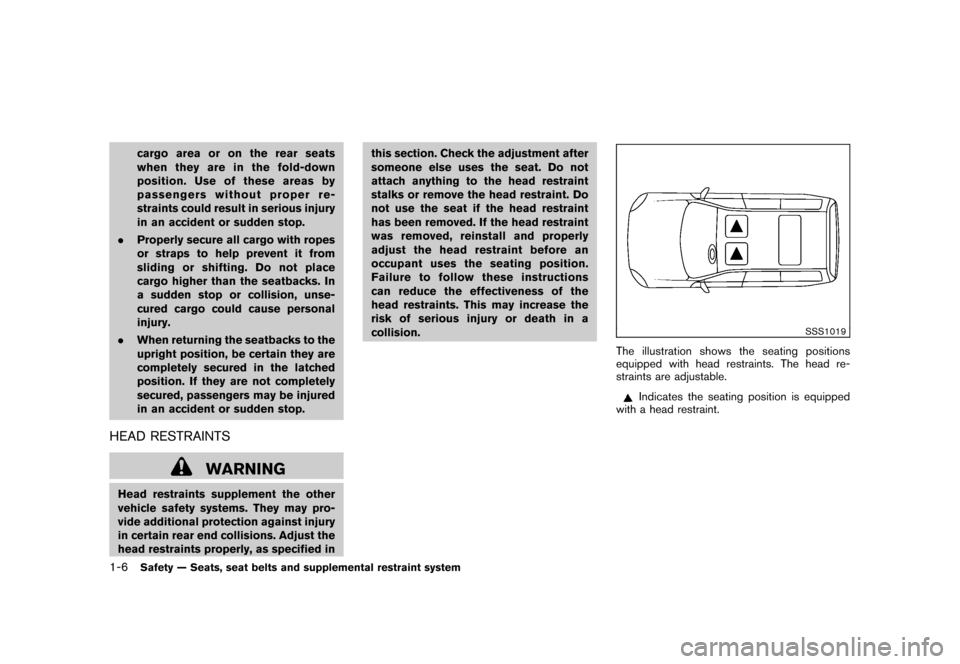 NISSAN CUBE 2010 3.G Owners Manual, Page 22
