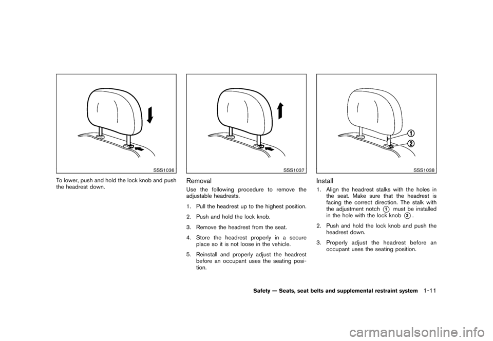 NISSAN CUBE 2010 3.G Owners Manual, Page 27