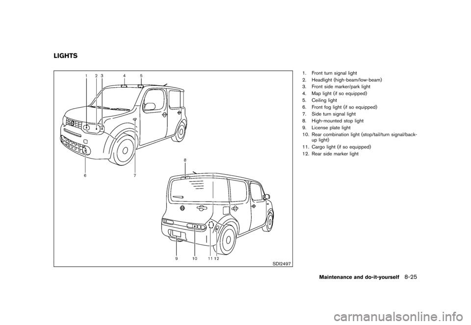 NISSAN CUBE 2010 3.G Owners Manual, Page 283