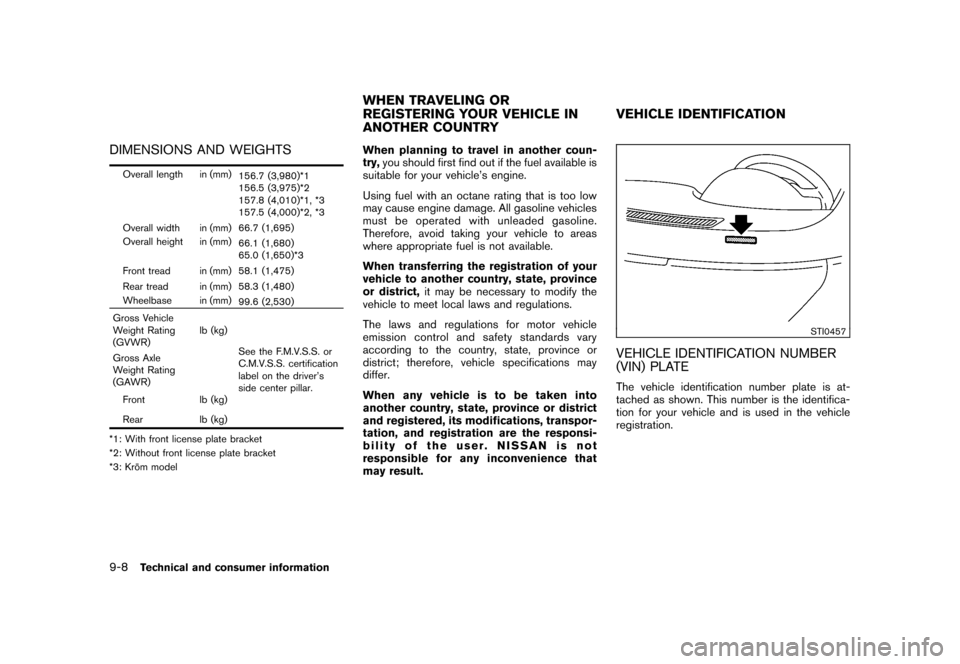 NISSAN CUBE 2010 3.G Owners Manual, Page 304