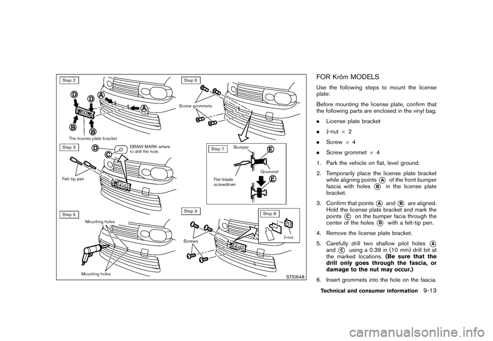 NISSAN CUBE 2010 3.G Owners Manual, Page 309