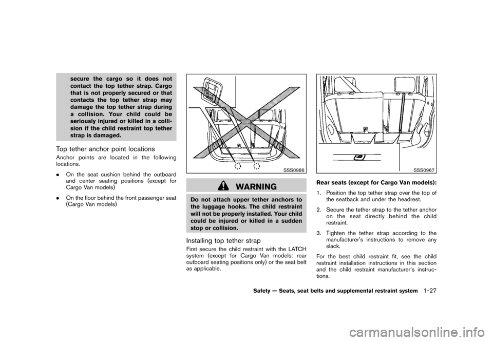NISSAN CUBE 2010 3.G Owners Manual, Page 43