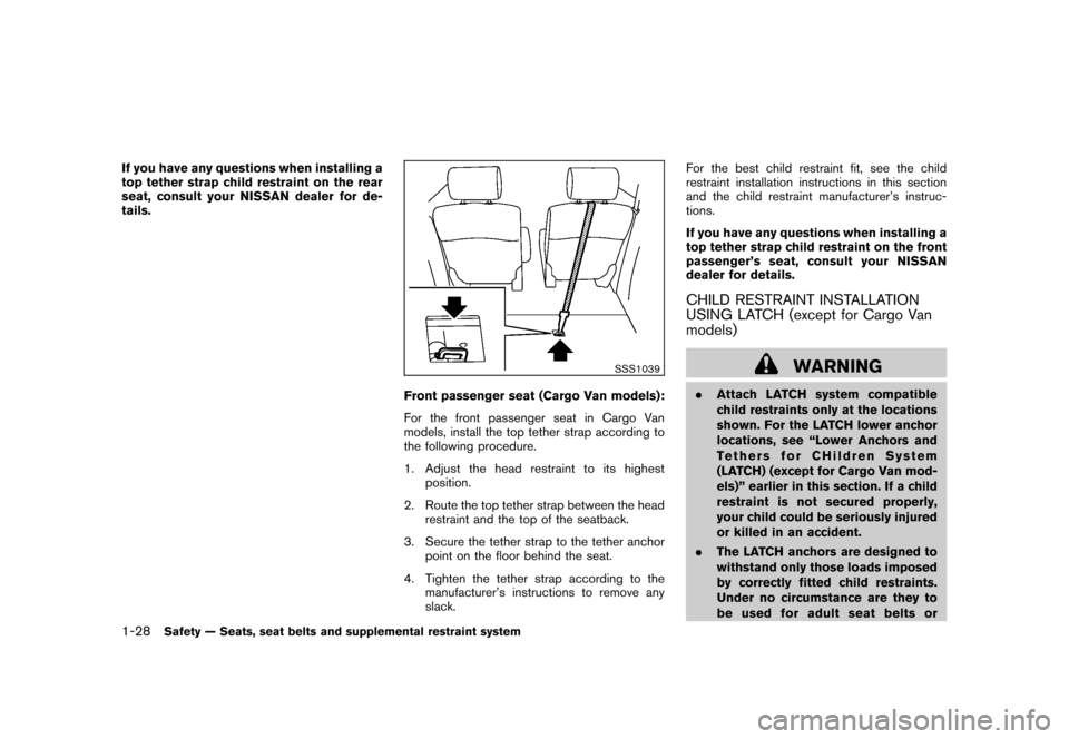 NISSAN CUBE 2010 3.G Owners Manual, Page 44