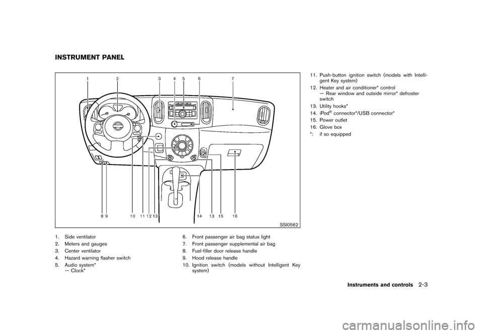 NISSAN CUBE 2010 3.G Owners Manual, Page 77
