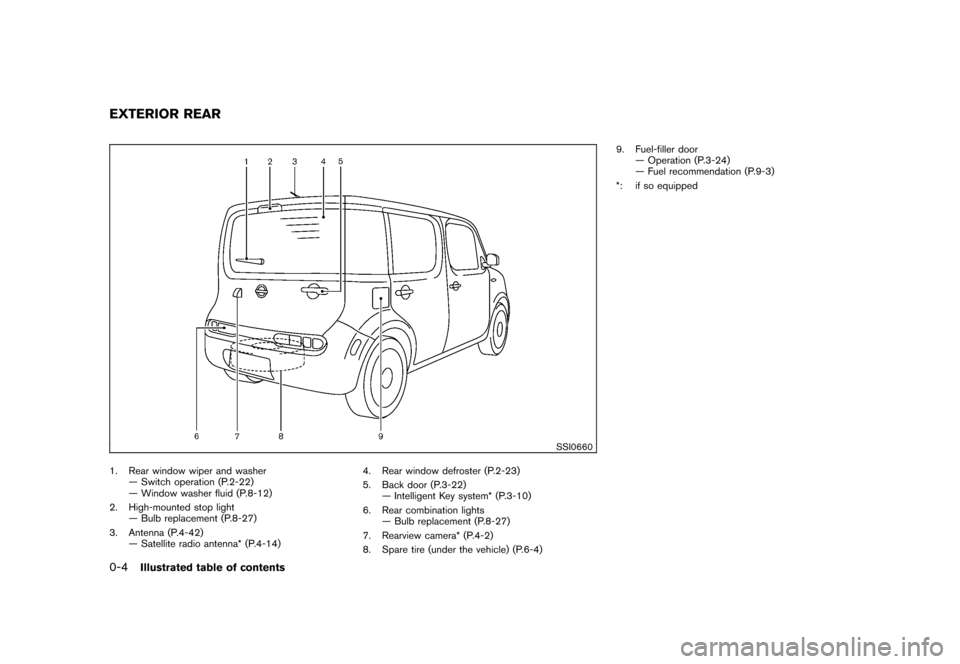 NISSAN CUBE 2010 3.G Owners Manual, Page 10
