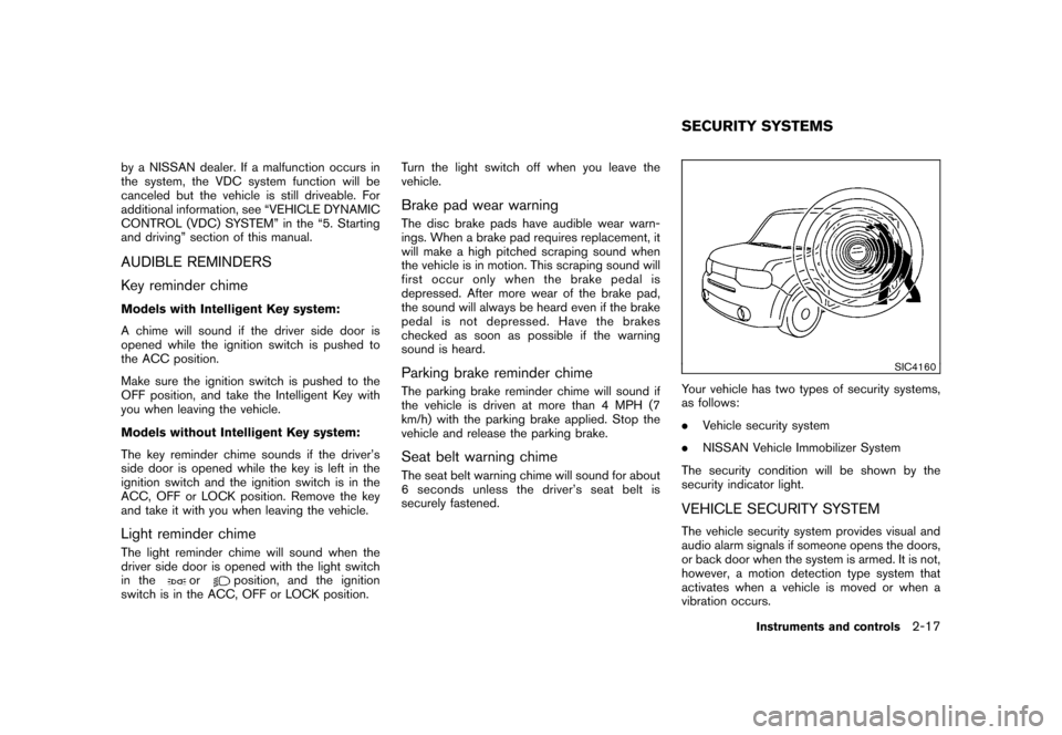 NISSAN CUBE 2010 3.G Owners Manual, Page 91