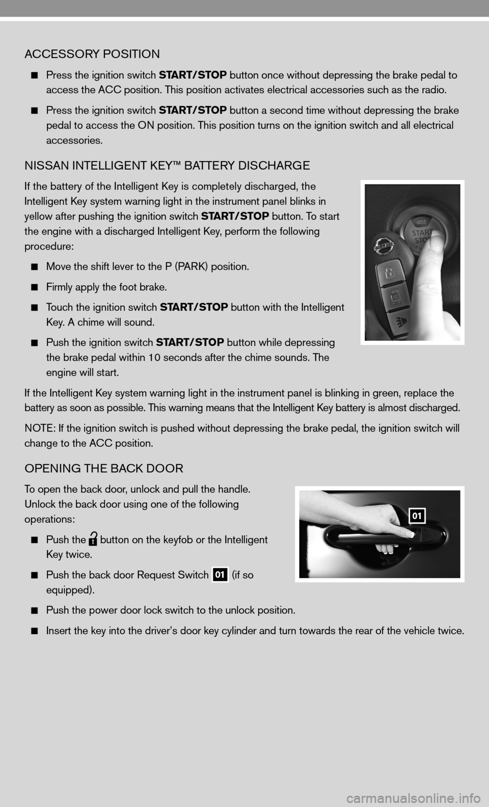 NISSAN CUBE 2010 3.G Quick Reference Guide, Page 5