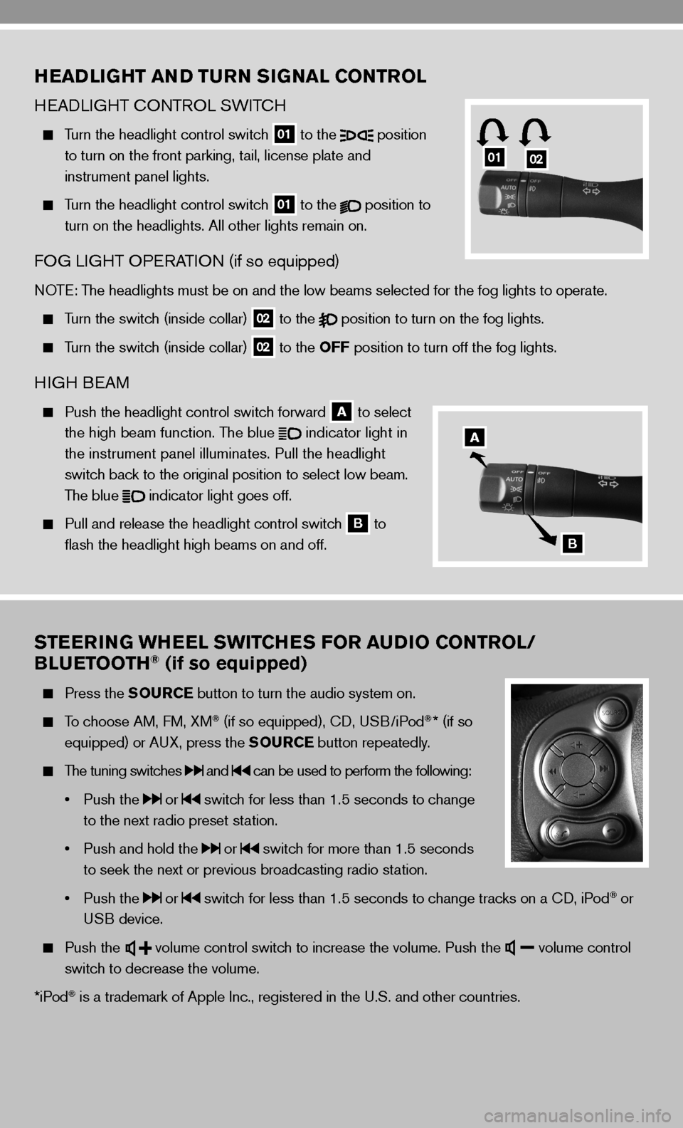 NISSAN CUBE 2010 3.G Quick Reference Guide, Page 7