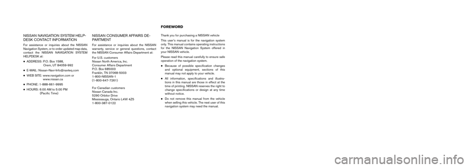 NISSAN VERSA 2010 1.G LC Navigation Manual, Page 2
