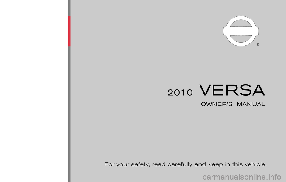 NISSAN VERSA HATCHBACK 2010 1.G Owners Manual, Page 1
