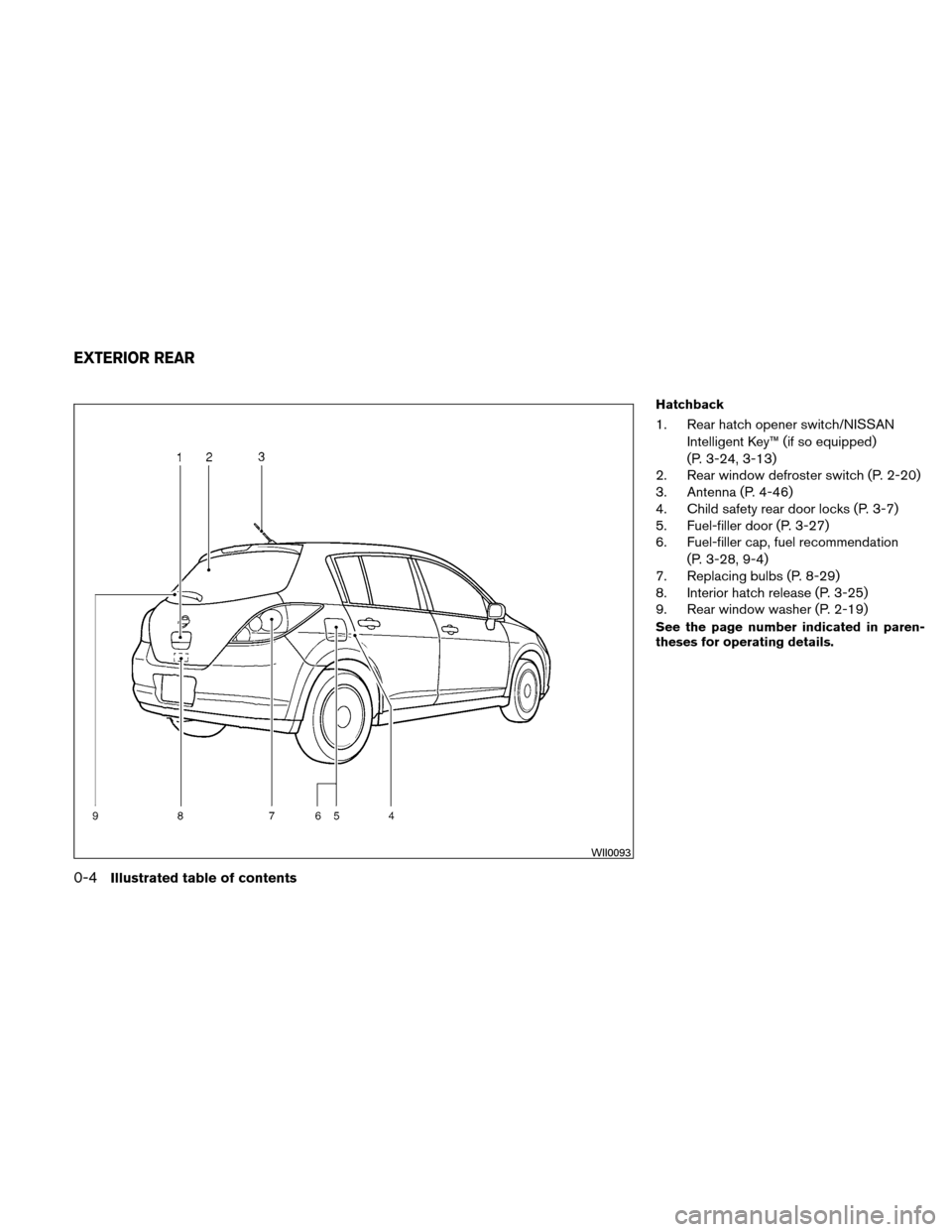 NISSAN VERSA HATCHBACK 2010 1.G Owners Manual, Page 11
