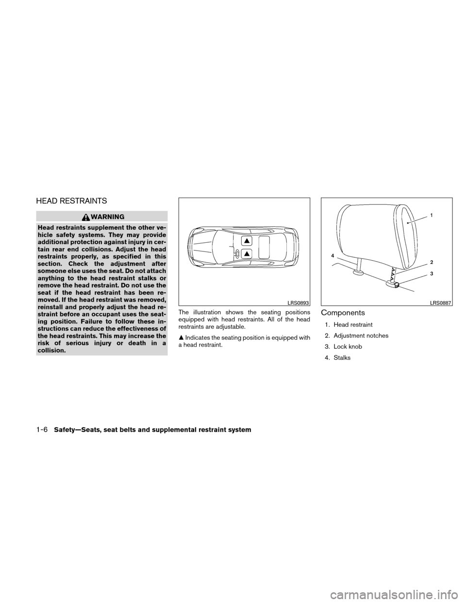NISSAN VERSA HATCHBACK 2010 1.G Owners Manual, Page 25