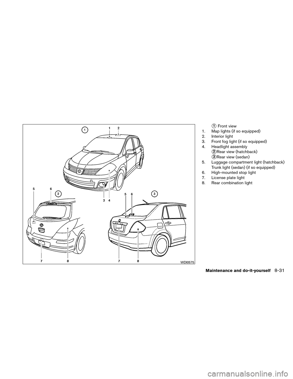 NISSAN VERSA HATCHBACK 2010 1.G Owners Manual, Page 294