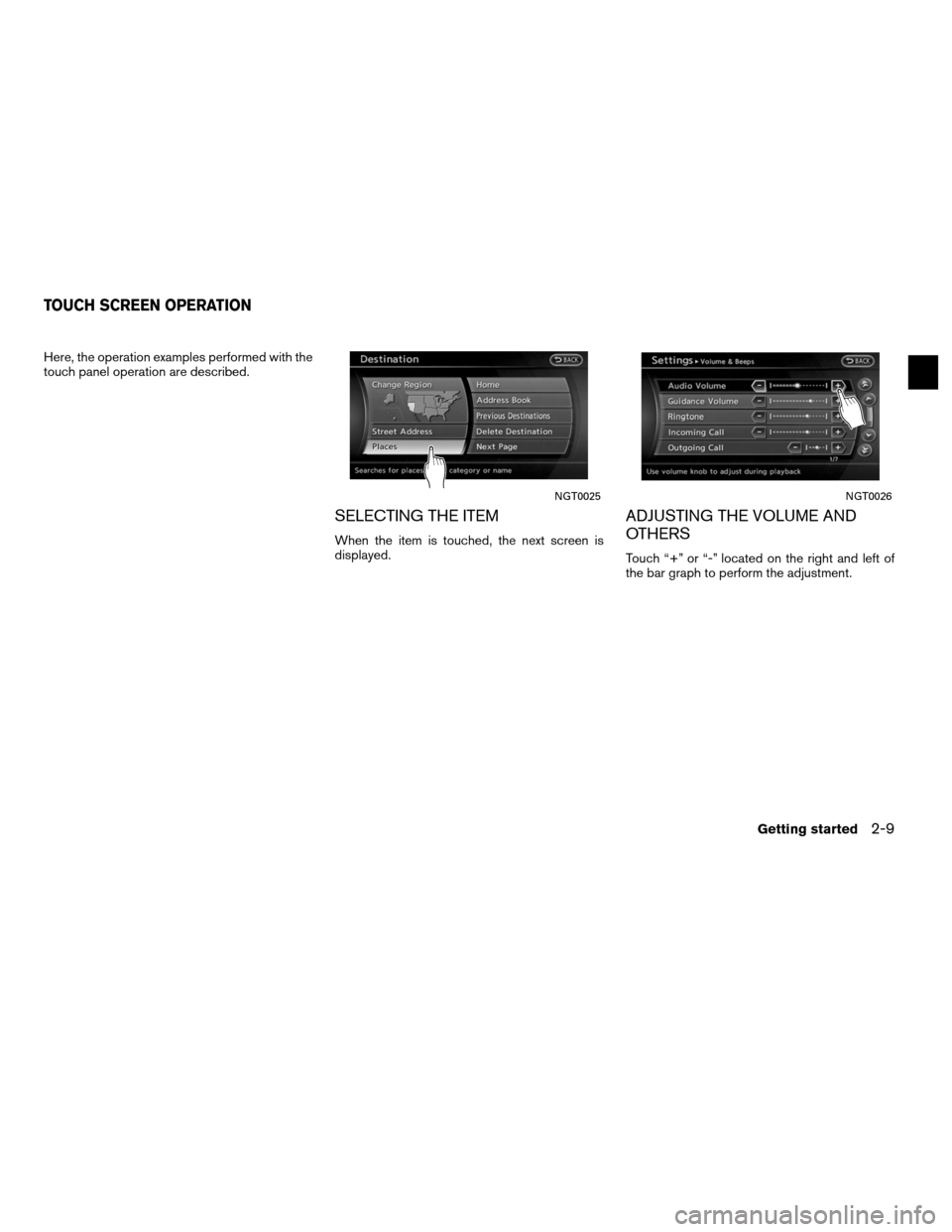 NISSAN ALTIMA COUPE 2011 D32 / 4.G Navigation Manual, Page 17