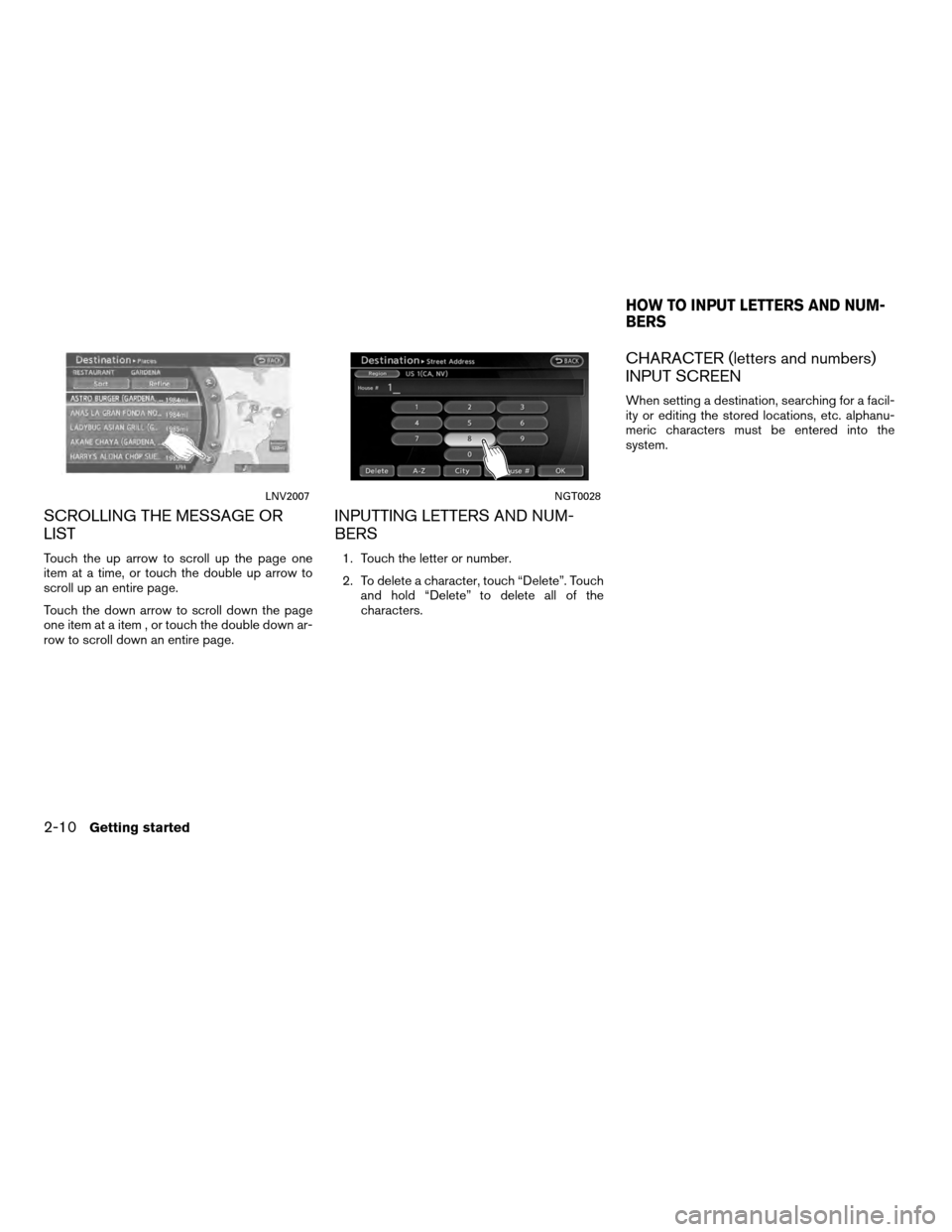 NISSAN ALTIMA COUPE 2011 D32 / 4.G Navigation Manual, Page 18