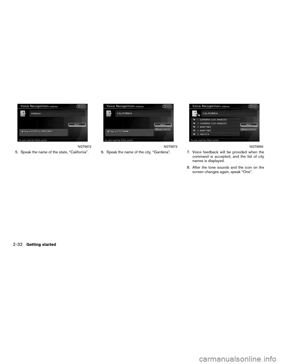 NISSAN ALTIMA COUPE 2011 D32 / 4.G Navigation Manual, Page 40