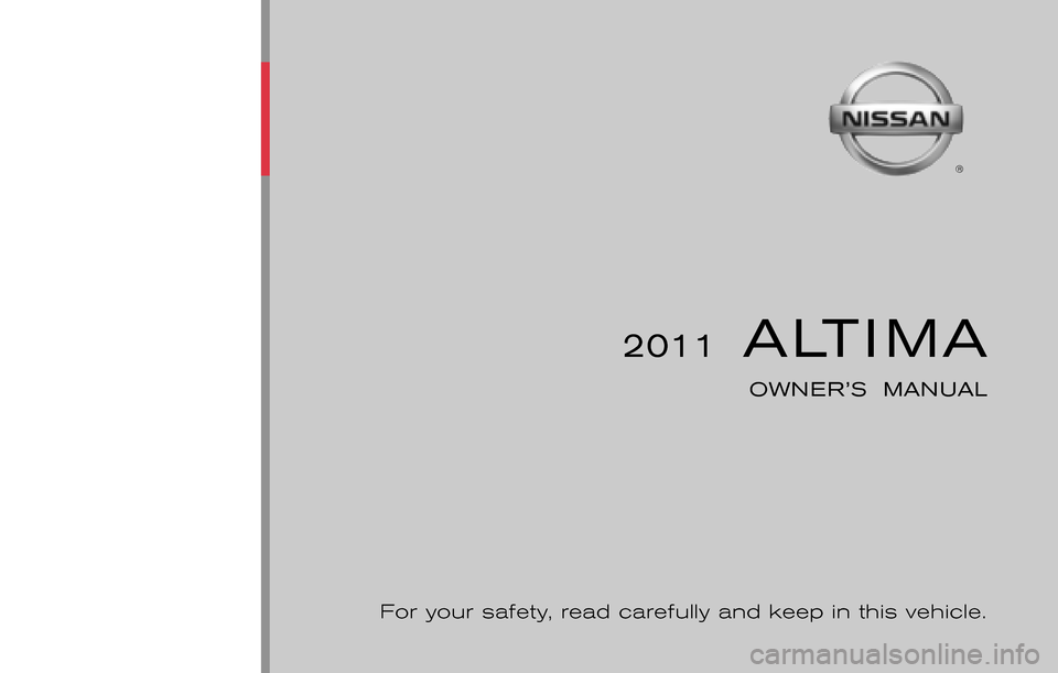 NISSAN ALTIMA COUPE 2011 D32 / 4.G Owners Manual, Page 1