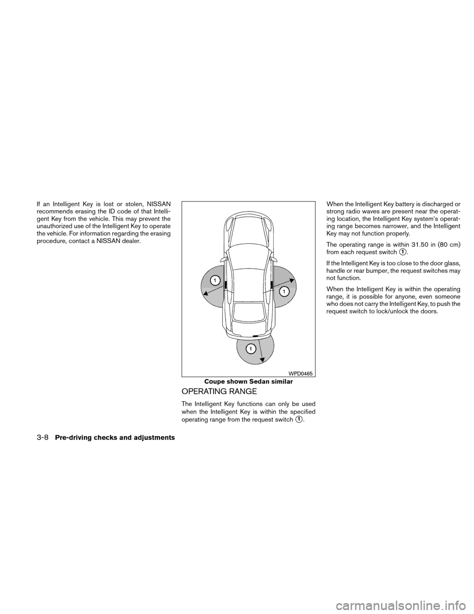 NISSAN ALTIMA COUPE 2011 D32 / 4.G Owners Manual, Page 143