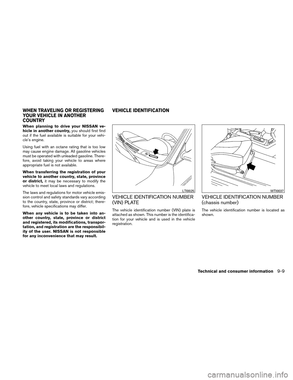 NISSAN ALTIMA COUPE 2011 D32 / 4.G Owners Manual, Page 418